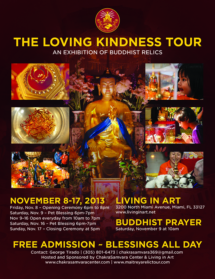chakra samvara center love in kindness relics tour